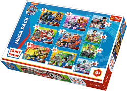 TREFL Puzzle 10 w 1 PSI PATROL, Ekipa Psiego Patrolu (90355)