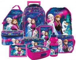 Plecak szkolny na kółkach FROZEN KRAINA LODU, licencja Disney (PL15KKL24SET10CZ) ZESTAW 10 el.