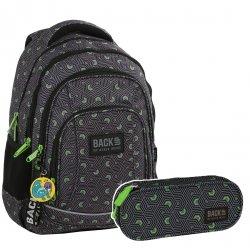 ZESTAW 2 el. Plecak szkolny młodzieżowy BackUP HIPNOZA (PLB2A48SET2CZ)