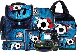ZESTAW 8 el. Tornister szkolny ergonomiczny FOOTBALL Piłka nożna (TEMBPI12SET8CZ)
