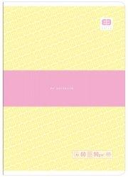 Zeszyt A5 60 kartek w kratkę BB PASTEL Żółty (55723)