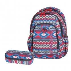 ZESTAW 2 el. Plecak CoolPack STRIKE w kolorowe wzory, BOHO BEIGE 803 (74889SET2CZ)