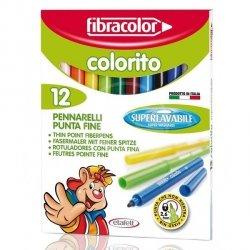 Flamastry pisaki 12 sztuk Fibracolor (00678)