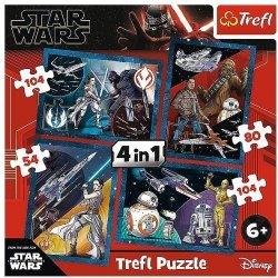 TREFL Puzzle 4 w 1 Star Wars, Poczuj moc  (34326)
