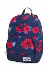 Plecak CoolPack CLASSIC miejski młodzieżowy w czerwone maki, RED POPPY (B06025)