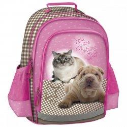 Plecak szkolny z psem kotem STAR ANIMALS (PL15SA10)