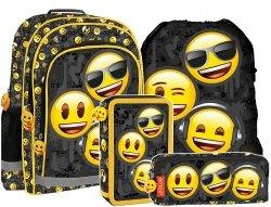 Plecak szkolny Emoji EMOTIKONY (PL15BEM10SET4CZ) ZESTAW 4 el.