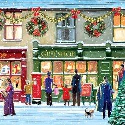 Serwetki świąteczne WINTER SHOPWINDOW, Paw (SDL750000)