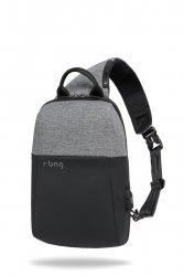 Plecak męski na tablet z USB Magnet Gray R-Bag (Z042)