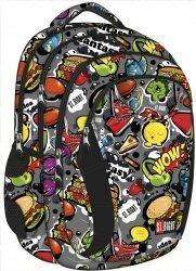 Plecak szkolny młodzieżowy ST.RIGHT w kolorowe wzory, FAST FOOD BP2 (17119)