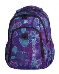 Plecak szkolny młodzieżowy COOLPACK STRIKE fioletowy w kwiaty, LUNAR BLOSSOM 792 (74568)