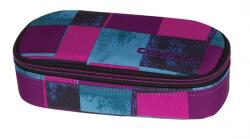Piórnik szkolny COOLPACK CAMPUS w niebieskie i różowe kwadraty, PLAID 908 (69380)