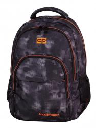 Plecak szkolny młodzieżowy COOLPACK BASIC czarny z pomarańczowymi dodatkami, MISTY ORANGE 954 (70645)