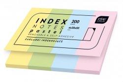 Zakładki indeksujące INDEX NOTES karteczki samoprzylepne PASTELOWE (75608)