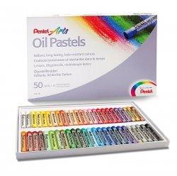 Pastele olejne szkolne 50 kolorów PENTEL (PEN50)