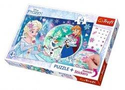 TREFL Puzzle 54 el. Magiczna moc Elsy, Kraina Lodu (75115)