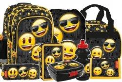 Plecak szkolny Emoji EMOTIKONY (PL15BEM10SET8CZ) ZESTAW 8 el.