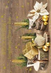 Kartka świąteczna BOŻE NARODZENIE 12 x 17 cm + koperta (43844)