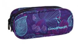 Piórnik dwukomorowy saszetka COOLPACK CLEVER fioletowy w kwiaty, LUNAR BLOSSOM 796 (74605)