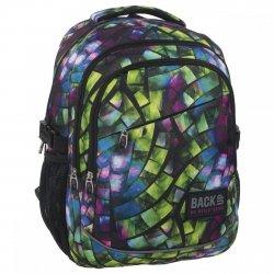 Plecak szkolny młodzieżowy Back UP kalejdoskopowy witraż KALEIDOSCOPE (PLB1G50)