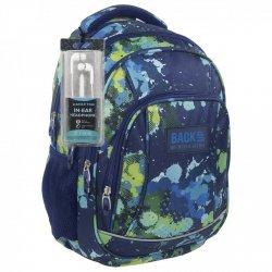 Plecak szkolny młodzieżowy Back UP zielone plamy MOSAIC SPLASH + słuchawki (PLB1A22)
