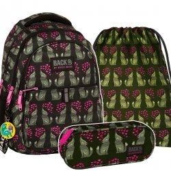 ZESTAW 3 el. Plecak szkolny młodzieżowy BackUP WILCZKI (PLB2N52SET3CZ)