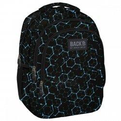 Plecak szkolny młodzieżowy Back UP czarny ELECTRO SHAPES (PLB1H5)