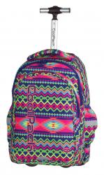 Plecak szkolny młodzieżowy na kółkach COOLPACK JUNIOR w kolorowe zygzaki, BOHO ELECTRA 782 (74254)