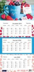 Kalendarz ścienny trójdzielny SMAKUJ ŻYCIE 2020 (72799)