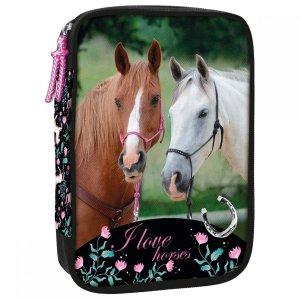 Piórnik z wyposażeniem WIELOFUNKCYJNY I LOVE HORSES Konie (PWJWKO20)