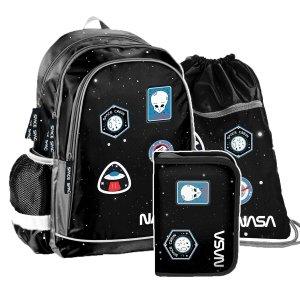 ZESTAW 3 el. Plecak szkolny NASA Paso (PP20NS-081SET3CZ)