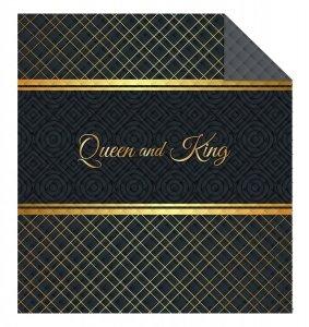 Narzuta na łóżko 170 x 210 cm Queen & King (WZ.K015)