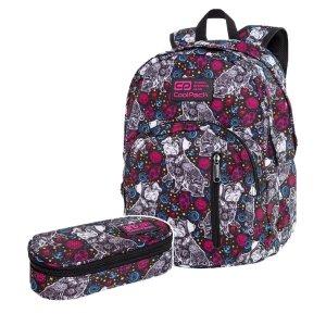 ZESTAW 2 el. Plecak CoolPack DISCOVERY 27 L mopsy, COCO (C38252SET2CZ)