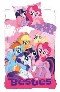 Pościel bawełniana My Little Pony Kucyki 140 x 200 cm komplet pościeli (MLP710-279)
