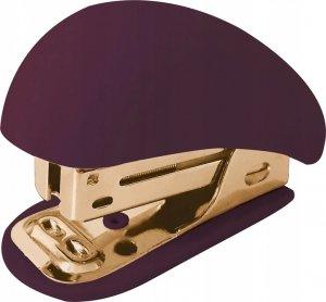 Zszywacz mały MINI SATIN GOLD bordowy (96054)