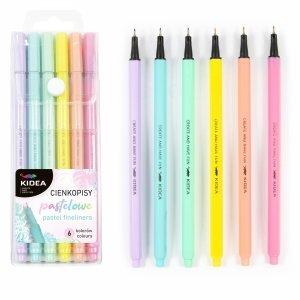 Cienkopisy pastelowe 6 kolorów KIDEA (CP6KA)
