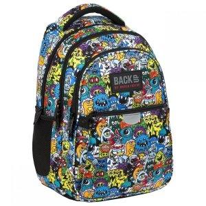 Plecak wczesnoszkolny BackUP 22 L kolorowe potworki, STORY (PLB3P47)