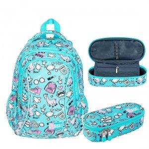 ZESTAW 2 el. Plecak wczesnoszkolny ST.RIGHT w pastelowe lamy, PASTEL LAMAS BP26 (26715SET2CZ)