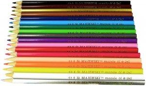 Kredki ołówkowe trójkątne BAMBINO 18 kolorów (02670)