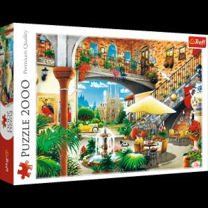 TREFL Puzzle 2000 el. Widok na Barcelonę (27105)