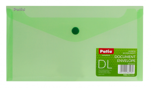 Teczka koperta transparentna na dokumenty DL PATIO zielona (PAT3153/N/15)