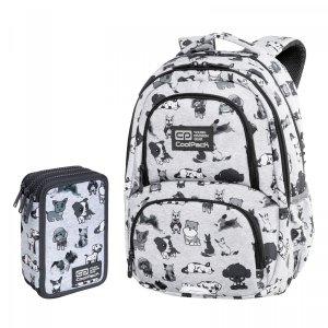 ZESTAW 2 el. Plecak CoolPack SPINER 24 L pieski, DOGGIES (C01180SET2CZ)