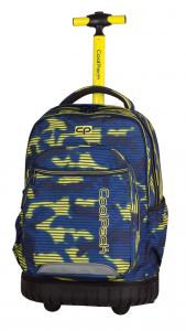 Plecak szkolny młodzieżowy na kółkach COOLPACK SWIFT granatowo - żółte moro, NAVY HAZE 938 (70201)
