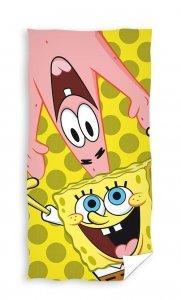 Ręcznik plażowy kąpielowy Spongebob Kanciastoporty 70 x 140 cm (SBOB201022-R)
