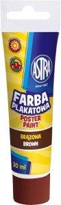 Farba plakatowa w tubie 30 ml brązowa ciemna ASTRA (83110913)