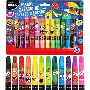 Pisaki zapachowe owocowe KIDEA 12 kolorów (PZ12KA)
