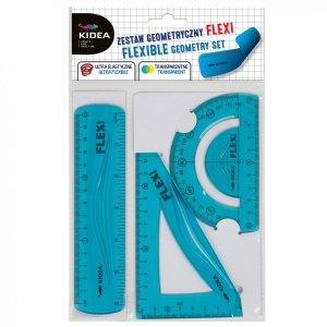 Zestaw geometryczny 3 elementy 15 cm Flexi  KIDEA (ZGF15CM3KA)