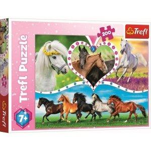TREFL Puzzle 200 el. HORSES Piękne konie (13248)