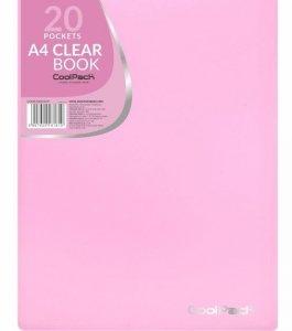 Teczka na dokumenty A4 z koszulkami Skoroszyt CoolPack PASTEL PINK różowa (81810CP)