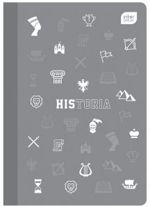 Zeszyt tematyczny przedmiotowy A5 60 kartek w kratkę z polipropylenową okładką HISTORIA (94012)
